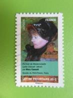"""Timbre France YT 675 AA - Art - Portraits De Femmes - """"Portrait De Mlle Lydia Cassatt"""" Mary Cassat - 2012 - Adhesive Stamps"""