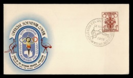 Australia Official Cover 1956 Melbourne Summer Olympics Games Saut à La Perche Pole Vault Stabhochsprung Postmarked - Sommer 1956: Melbourne