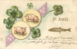 Illistrateur 1er Avril De La Part D'un Ami Trèfles Poisson Cochons RV - 1° Aprile (pesce Di Aprile)