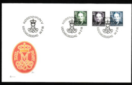 E 84) Dänemark 1991 Mi# 993-995 FDC: Freimarken Königin Margrethe II. - Danimarca