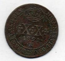BRAZIL, 20 Reis, 1821 R, Copper, KM #316.1 - Brazil