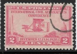 Yvert 279 Michel 314 - 2 C Carmin - O - United States