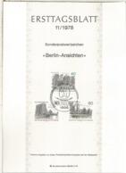 ALEMANIA DOCUMENTO PRIMER DIA FDC BERLIN ARQUITECTURA - Monumentos