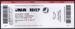Croatia Zagreb 2019 / Arena / Handball / Croatia - Germany / Entry Ticket - Tickets - Entradas
