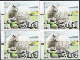 ALAND ISLANDS 2000 ATM Machine Stamps Skerry Sheep Animals Fauna MNH - Ferme