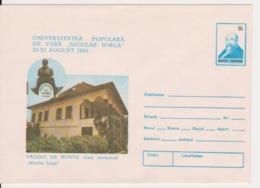 NICOLAE IORGA WRITER VALENII DE MUNTE ROMANIA STATIONERY - Escritores