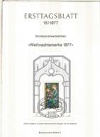 ALEMANIA DOCUMENTO PRIMER DIA FDC BERLIN NAVIDAD CHRISTMAS VIDRIERA - Vidrios Y Vitrales