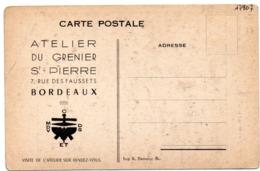 PUBLICITÉ 55 : Atelier Du Grenier Saint Pierre 7 Rue Des Faussets Bordeaux , Sur Les Dames Au Pistolet Par P Molinier - Publicité