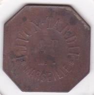 13. Bouches Du Rhône. Marseille. Livon-Tardif. 1 Franc, En Cuivre - Monétaires / De Nécessité