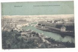 BESANCON . PANORAMA DE BESANCON PRIS DE CHAUDANNE . CARTE COLORISEE AFFR AU VERSO LE 5 MAI 1908 . 2 SCANES - Besancon