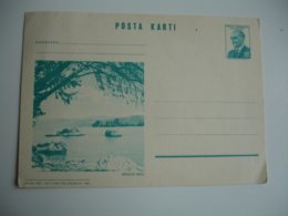 Turquie Turkey Stationery Card Posta Karti Illustre Egridir Golu - 1921-... Republiek