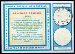 DANEMARK / DENMARKVi20 150 öreInternational Reply Coupon Reponse Antwortschein IRC IAS O VARDE 9.8.72 - Enteros Postales