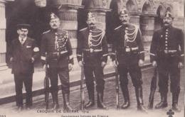 CPA :  Croquis De Guerre 1914  Gendarmes Belges  En France, Uniformes    Ed CCCC  N°252 - War 1914-18