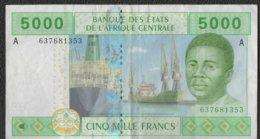 Billet De Banque De  Collection 5000 Francs ÉTATS DE L'AFRIQUE CENTRALE 2002 - Centraal-Afrikaanse Republiek
