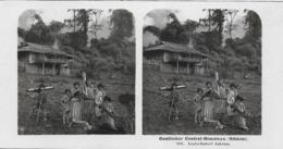 1905 - HIMALAYA  Sikkim  Gandtok , Stereofoto 18X9cm. Gute Zustand, 2 Scan - India