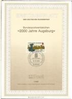 ALEMANIA DOCUMENTO PRIMER DIA FDC BONN 2000 JAHRE AUGSBURG - Monumentos