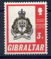 GIBRALTAR - 278** - PRESENTATION DES COULEURS AU REGIMENT DE GIBRALTAR - Gibraltar