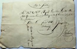 55 VERDUN 1811 BAL DE SOCIETE INVITATION MANUSCRITE SUR PAPIER CHIFFON  RARE  BON ETAT - Historical Documents