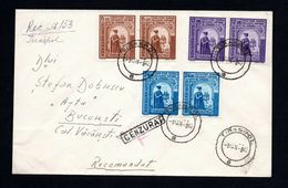 Romania 1942 Cover From Tiraspol To Bucharest, Censorship Mark, Transnitria Set - Roumanie
