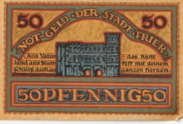 Billets De Nécessité Allemand 1921, 50 Pfennig - 1918-1933: Weimarer Republik