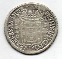 BRAZIL, 640 Reis, 1701 P, Silver, KM #90.2 - Brazil