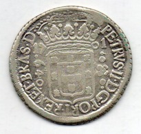 BRAZIL, 640 Reis, 1701 P, Silver, KM #90.2 - Brasil