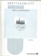ALEMANIA DOCUMENTO PRIMER DIA FDC BONN 800 JAHRE LANDSHUT ARQUITECTURA - Iglesias Y Catedrales
