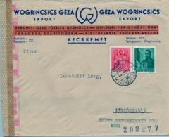 1941 HUNGRIA , SOBRE CIRCULADO  , CENSURA , KECSKEMÉT - NÜREMBERG - Hungría
