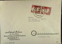 SBZ: Orts-Brief Mit 8 Pf Karl-Marx In MeF Aus Leipzig Vom 16.12.49 Knr: 214 (2) - Zone Soviétique