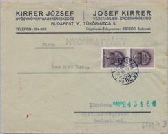1942 HUNGRIA , SOBRE CIRCULADO  , CENSURA , KECSKEMÉT - NÜREMBERG - Hungría