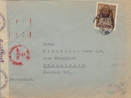 1941 HUNGRIA , SOBRE CIRCULADO  , CENSURA , BUDAPEST - DÜSSELDORF - Hungría