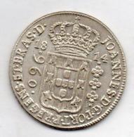 BRAZIL, 960 Reis, 1814 B, Silver, KM #307.1 - Brasilien