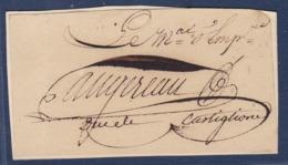 AUTOGRAPHE SUR FRAGMENT: AUGEREAU 1757/1816 MARECHAL D'EMPIRE, DUC DE CASTIGLIONE - Autógrafos
