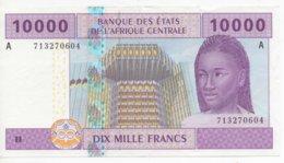 Billet De Banque De  Collection Billet Etats De L'Afrique Centrale 10000 Francs BEAC Yaoundé - Centraal-Afrikaanse Republiek