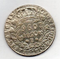 BRAZIL, 960 Reis, 1820 B, Silver, KM #326.2 - Brasilien