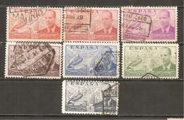 España/Spain-(usado) - Edifil  880-86 - Yvert  Aéreo 195-01 (o) - Usados