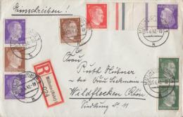 DR R-Brief Mif Minr.782,2x 784,zdr. Minr.S 277, KZ 40 Mülheim (Ruhr) 5.6.42 - Deutschland