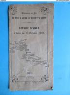 1848 Horaires Chemin  De Fer Paris à Rouen, Le Havre & Dieppe Correspondances Paquebots Vapeur - Europa