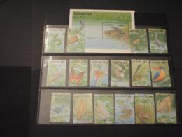 UGANDA - 1990 ANIMALI 16 VALORI +  BF - NUOVI(++) - Uganda (1962-...)