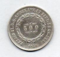 BRAZIL, 500 Reis, 1858, Silver, KM #464 - Brazil