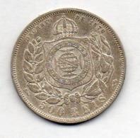 BRAZIL, 500 Reis, 1888, Silver, KM #480 - Brazil