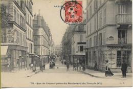 PARIS  Rue De Crussol Prise Du Boulevard Du Temple - Arrondissement: 11