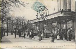PARIS Point Terminus De L'avenue De Versailles Et Porte De Saint Cloud (terrasse De Café Animée) - Arrondissement: 16