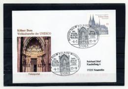 BRD, 2003. Brief (echt Gelaufen) Mit Michel 2330 Und Sonderstempel, UNESCO-Welterbe Kölner Dom - Lettres & Documents