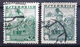 Volkstrachten 1934, Mi 584-85 Gestempelt - 1918-1945 1a Repubblica