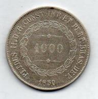BRAZIL, 1000 Reis, 1850, Silver, KM #459 - Brazil
