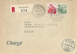 R Brief  Mühlethurnen - Belp           1948 - Svizzera