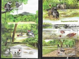 SRI LANKA, 2019, MNH, WASGAMUWA NATIONAL PARK, BIRDS, FISH, BUTTERFLIES, ELEPHANTS, REPTILES, MONKEYS, 6v+ 6 S/SHEETS - Birds