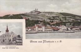 Marbach An Der Donau * Hotel, Fluss, Ufer, Gesamtansicht, Mehrbild * Österreich * AK1640 - Melk