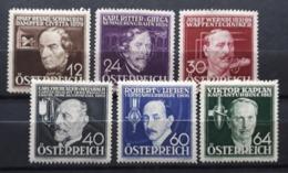 Österreichische Erfinder 1936, Mi 632-37 Ungebraucht - 1918-1945 1st Republic